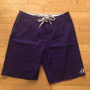 O'Quinn Men's Board Shorts Purple